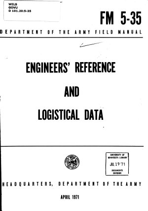 Engineers' Reference and Logistical Data