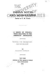 Notes on Iroquois Archeology