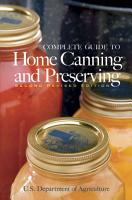 Complete Guide to Home Canning and Preserving  Second Revised Edition  PDF