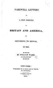 Farewell letters to a few friends in Britain and America, on returning to Bengal in 1821