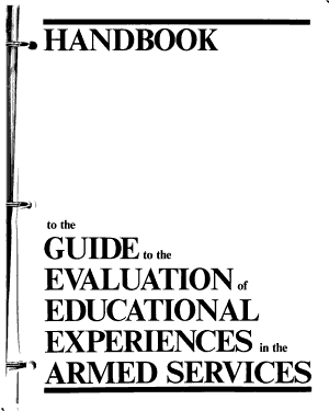 Handbook to the Guide to the Evaluation of Educational Experiences in the Armed Services PDF