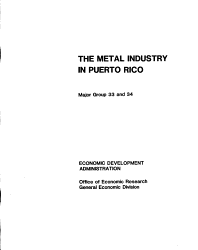 The Metal Industry in Puerto Rico PDF