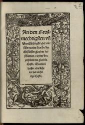 An den großmächtigsten und durchlauchtigsten Adel deutscher Nation daß sie den christlichen glauben beschirmen wider den Zerstörer des Glaubens Christi, Martin Luther, einen Verführer der einfältigen Christen