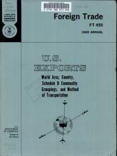 U.S. Exports: World area, country, schedule B commodity groupings, and method of transportation, Volume 3