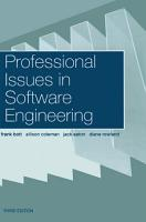 Professional Issues in Software Engineering PDF