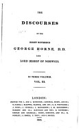 The Discourses of the Right Reverend George Horne     PDF