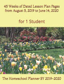 The Homeschool Planner SY 2019 2020 for 1 Student
