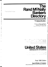 The Rand McNally Bankers Directory PDF