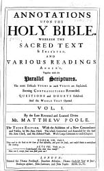 Annotations Upon The Holy Bible Book PDF