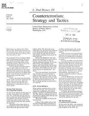 Counterterrorism  strategy and tactics