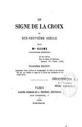 Le signe de la croix au dix-neuvième siècle