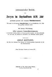Joannis Kepleri astronomi opera omnia: Volume 8, Part 1