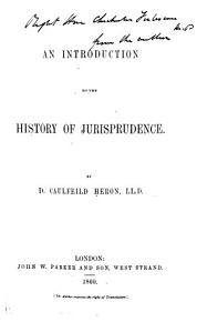 An Introduction to the History of Jurisprudence PDF