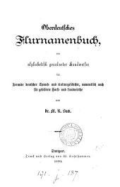 Oberdeutsches Flurnamenbuch, ein alphabetisch geordneter Handweiser