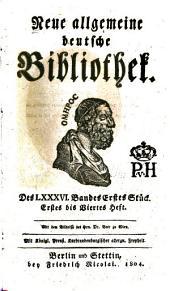Neue allgemeine deutsche Bibliothek: Band 86