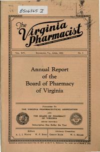 The Virginia Pharmacist PDF