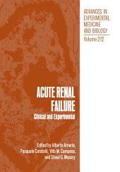 Acute Renal Failure: Clinical and Experimental
