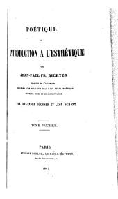 Introduction al̀'ésthétique