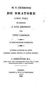 M.T. Ciceronis De oratore libri tres