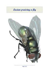 Lucian praising a fly: A paradoxical encomium of the two-winged insect.