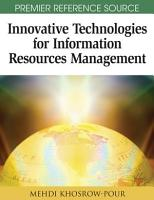 Innovative Technologies for Information Resources Management PDF