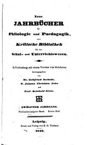 Neue Jahrbücher für Philologie und Paedogogik: Band 35