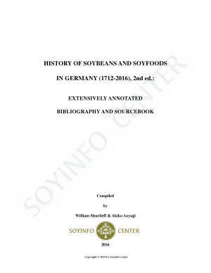 History of Soybeans and Soyfoods in Germany  1712 2016   2nd ed  PDF