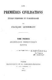 Les premières civilisations: études d'histoire et d'archéologie, Volume2