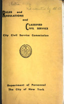 Rules and Regulations and Classified Civil Service
