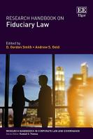 Research Handbook on Fiduciary Law PDF