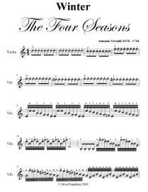 Winter Four Seasons Easy Violin Sheet Music Pdf