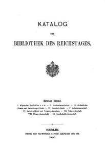 Katalog der Bibliothek des Reichstages PDF
