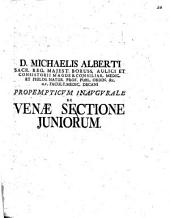 Propempt. inaug. de venae sectione iuniorum