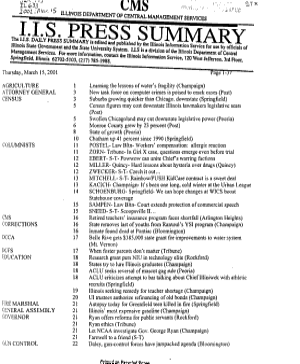 Press Summary   Illinois Information Service PDF
