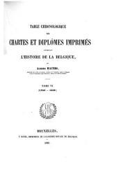 Table Chronologique des Chartes et diplômes: Volume6