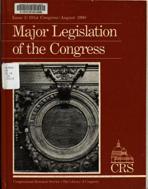 Major Legislation of the Congress PDF