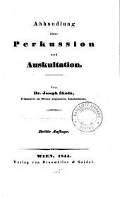 Abhandlung über Perkussion und Auskultation