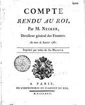 Compte rendu au roi: au mois de janvier 1781