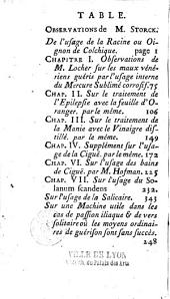 Observations sur l'usage interne du colchique d'automne, du sublimé corrosif, de la feuille d'oranger, du vinaigre distillé... par Mrs Störck, Locher, de Haen,... précédées d'un Mémoire pour servir à l'histoire de ces différens moyens de guérison par M. L. B. D. P. D. M. P. (Le Bègue de Presle)...