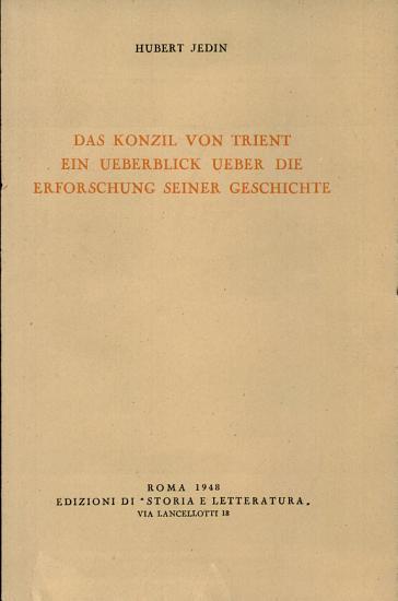 Das Konzil von Trient PDF