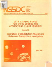 Descriptions of Data Sets from Planetary and Heliocentric Spaceccraft and Investigations PDF