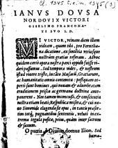 Ianus Dousa nordovix Victori Giselino Franconati suo S.D. ...