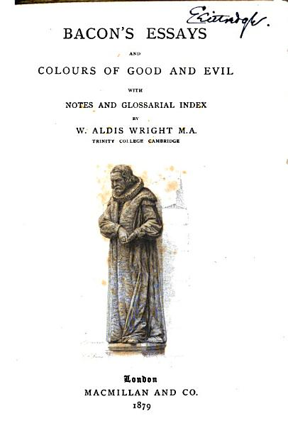 Download Essays and Colours of Good and Evil Book