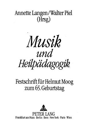 Musik und Heilp  dagogik