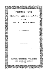 Poems for Young Americans from Will Carleton