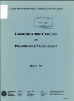 Labor Relations Case Law on Performance Management PDF