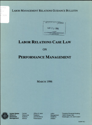 Labor Relations Case Law on Performance Management