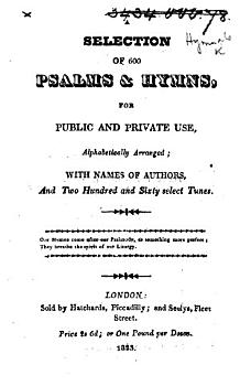 A Selection of 600 Psalms and Hymns for public and private use  alphabetically arranged  etc PDF