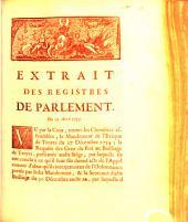 Extrait Des Registres Du Parlement: Du 17 Avril 1755