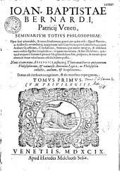Seminarium totius philosophiae